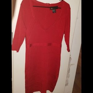 Red bandage dress size L